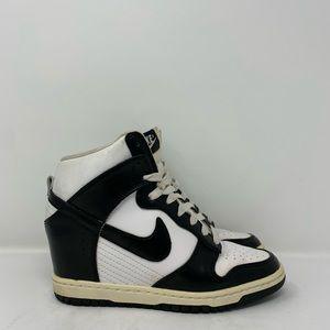 Nike Sky High Dunks Black and White Wedge